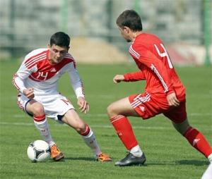 Жестков в молодежной сборной России